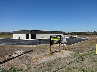 Dollar General - Construction of a new Dollar General store in Lowndes County, Georgia in 2015.
