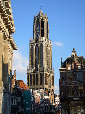 Dom Tower of Utrecht - Dom Tower from the northwest.