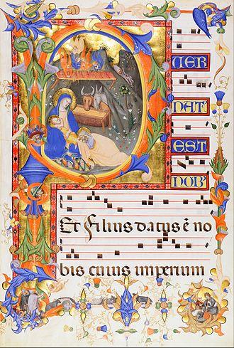 """Silvestro dei Gherarducci - Initial """"P"""", Gradual 1 from the monastery of San Michele a Murano"""