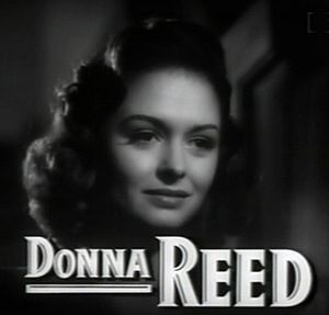 Cropped screenshot of Donna Reed from the trai...