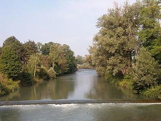 Dora Riparia - The river at Turin