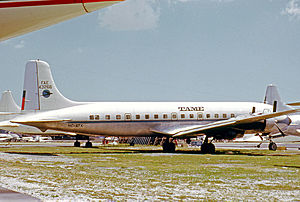 TAME - TAME Douglas DC-6B at Miami in 1972