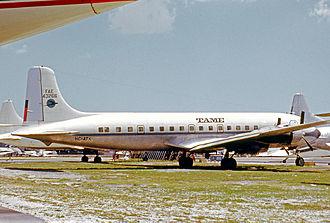 TAME - TAME Douglas DC-6B at Miami in 1972