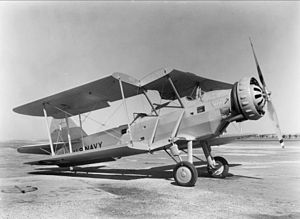 Douglas XT3D - The XT3D-1 with one wing folded.
