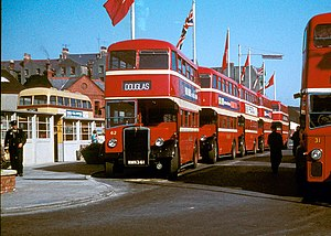 Bus Vannin - Lord Street bus station in 1961