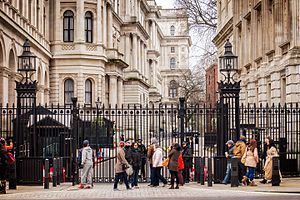 Downing Street - The gated entrance to Downing Street, from Whitehall