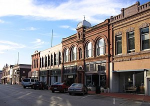 National Register of Historic Places listings in Logan County, Oklahoma - Image: Downtown guthrie oklahoma