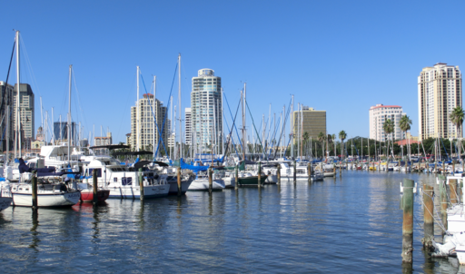 Downtown St. Petersburg Florida from Marina