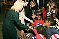 Dr. Jill Biden, Ashley Biden, and Liz Berry Gips Shake Hands With South African Children (4690981335).jpg