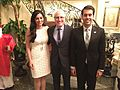 Dr. Nikan Khatibi, Dr. Parmis Khatibi, UCI Dean School of Biological Science Dr. Frank LaFerla.jpg