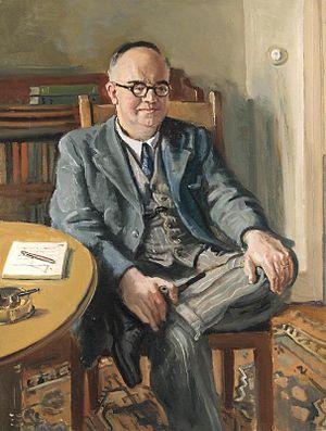 Rodney Joseph Burn - Dr R E Stradling, CB, MD, FRS (1945) (Art.IWM ART LD 3559)