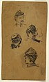 Drawing, Four Studies of Soldiers, ca. 1863 (CH 18173675).jpg