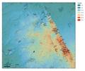 Drente hoogtekaart met hunebeddenlocaties 300dpi.png