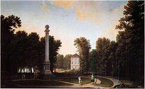 Dronninggård - Dronninggård painted by Erik Pauelsen in 1785