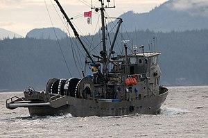 Drum net seiner in Johnstone Strait, British C...