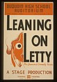 "Duquoin High School auditorium - ""Leaning on Letty"", the famous comedy success-A stage production LCCN98510007.jpg"