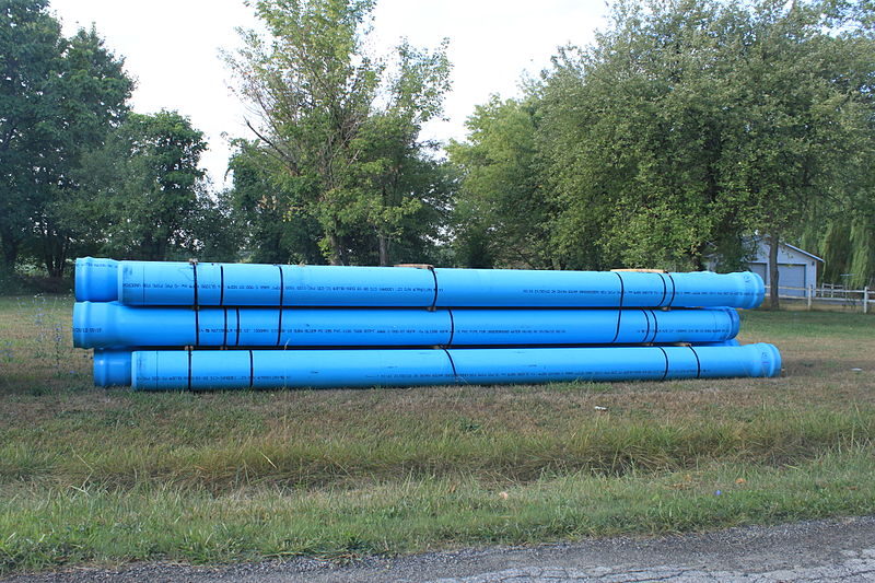 File:Dura-Blue PVC Pipe for Underground Water Mains.JPG