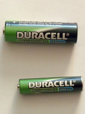 Ampere hour - Image: Duracell rechargeable batteries