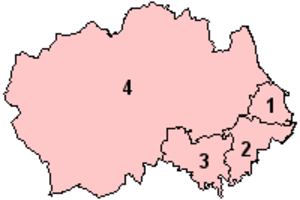 North East England devolution referendum, 2004 - Image: Durham Option 1