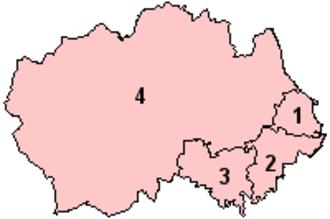 North East England devolution referendum, 2004 - Image: Durham Option 1