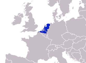 French Flanders - The Dutch-language Taalgebied (Sprachraum), including northern French Flanders