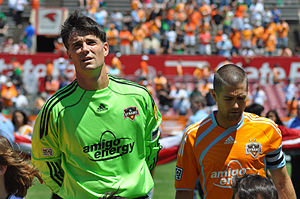 Pat Onstad - Pat Onstad pictured with former Houston Dynamo team mate Wade Barrett