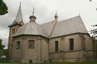 Działoszyce Place in Świętokrzyskie Voivodeship, Poland