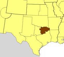 Location of the Diocese of Dallas