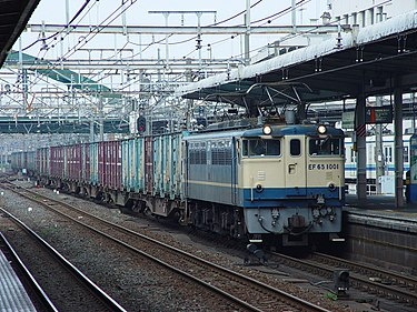 Japan electric locomotive EF65 EF65 1001 Omiya 20030822.jpg