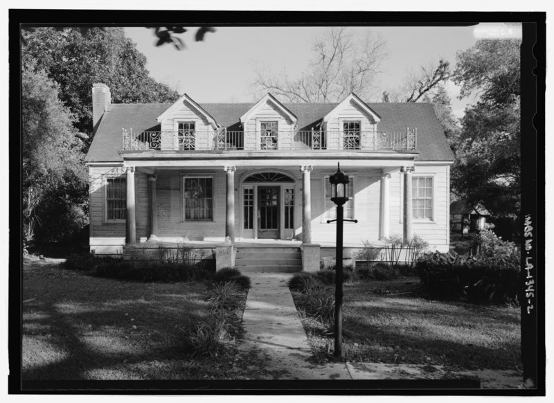 File:ELEVATION VIEW OF THE NORTHWEST (FRONT) FACADE - Cohen Plantation, 4397 Louisiana State Highway 119, Melrose, Natchitoches Parish, LA HABS LA-1345-2.tif
