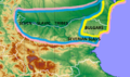 Early Bulgar Khanate. Zones of tribal control.png