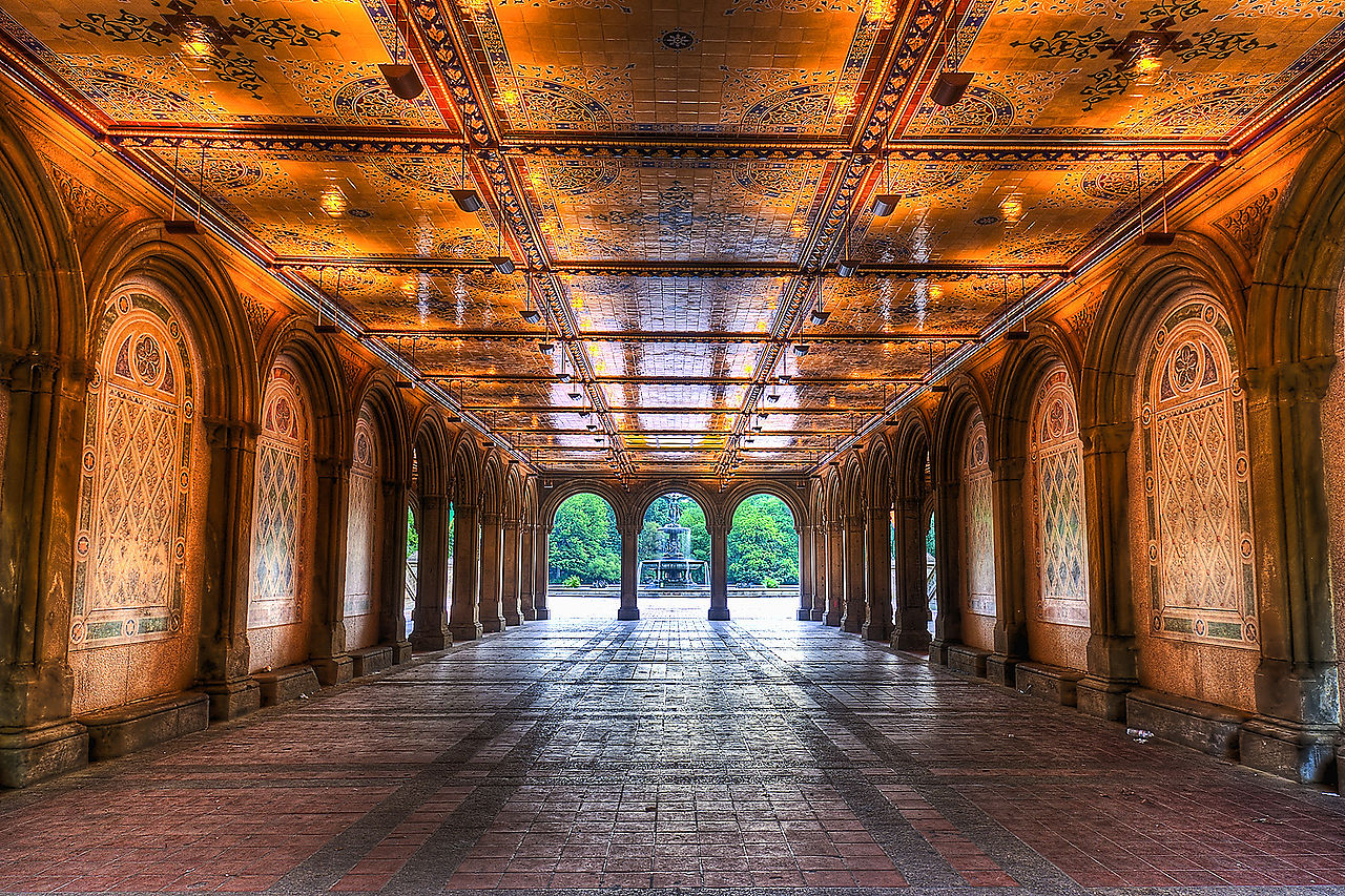 FileEarly Morning View Under Bethesda Terrace Central Park NYC