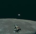 Earth, Moon and Lunar Module, AS11-44-6643.jpg
