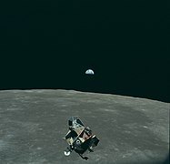 Earth, Moon and Lunar Module, AS11-44-6643.jpg