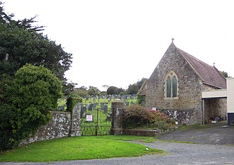 East-the-Water Cemetery, Bideford - The entrance gates on Barnstaple Road with the chapel to the right