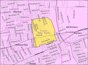 East Williston, New York - U.S. Census Map