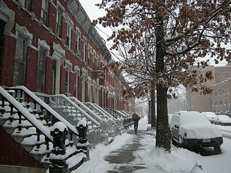 Mott Haven, Bronx - East 139th Street, between Willis and Brook Avenues, facing east