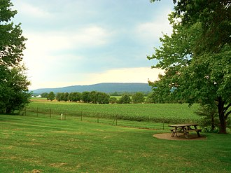 East Hanover Township, Dauphin County, Pennsylvania - View from I-81 rest stop, looking north