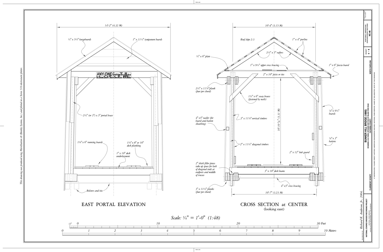 Elevation Plan And Cross Section : File east portal elevation cross section at center