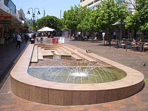 Eastwood, New South Wales - Fountain in Rowe Street mall.