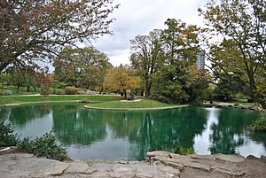 Eden Park (Cincinnati) - Twin Lakes in Eden Park.
