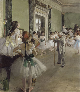 Edgar Degas - The Dance Class (La Classe de Danse), 1873–1876, oil on canvas, by Edgar Degas
