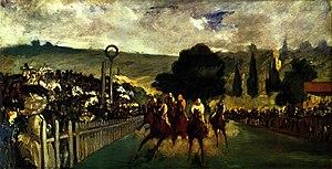 Racing at Longchamp, 1864.