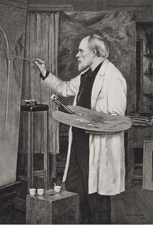 1898 in art - Photogravure of a portrait of Edward Burne-Jones by his son Philip Burne-Jones, 1898