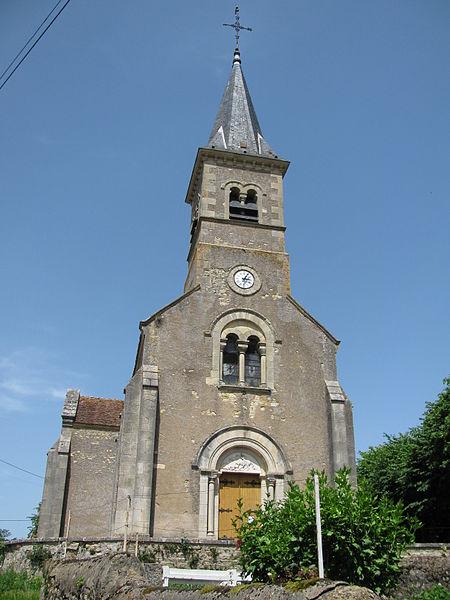 L'église Saint-Georges de Monceaux-le-Comte.