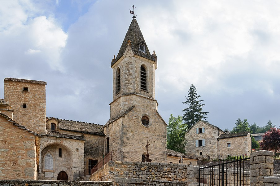 Saint Martin's Church of La Capelle, La Canourgue, Lozère, France