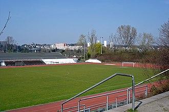 Pitch (sports field) - Image: Eintracht sportplatz ffm riederwald 002