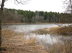 Ekholmsnässøen med udløbet til Hustegavigen