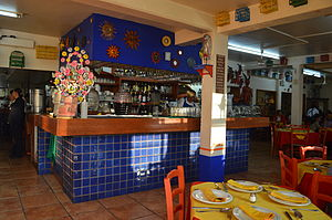 El Bajío (restaurant) - Bar area at the Azcapotzalco location