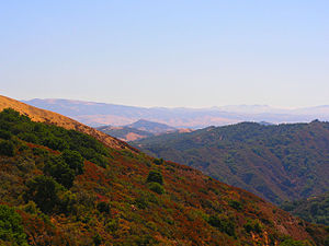 Morgan Hill, California - View of El Toro Mountain.